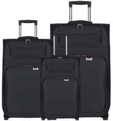Aerolite Sada cestovních kufrů AEROLITE T-9515/3 - černá