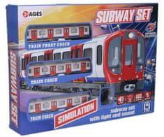 Wiky Vlak metro s efektami set dľžka trate 88cm