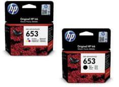 HP 653 čierna + farebná (3YM75AE + 3YM74AE)