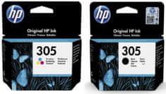 HP 305 čierna + farebná (3YM61AE + 3YM60AE)