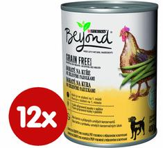 Purina Beyond Grain Free kúsky v paštéte bohaté na kurča so zelenými fazuľkami 12x400 g