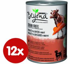 Purina Beyond Grain Free kúsky v paštéte bohaté na hovädzie s mrkvou 12x400 g
