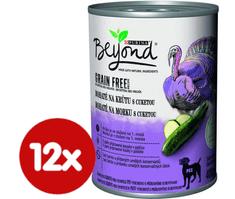 Purina Beyond Grain Free kúsky v paštéte bohaté na morku s cuketou 12x400 g