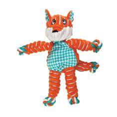KONG Floppy Knots pseća igračka, S/M, lisica