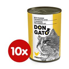 Dibaq DON GATO konzerva kočka drůbeží 10x415 g