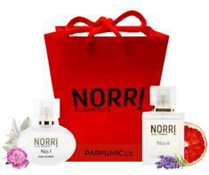 NORRI  Luxusní taška červená s logem NORRI