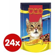 Dibaq TEO kapsička kočka drůbeží 24x100 g