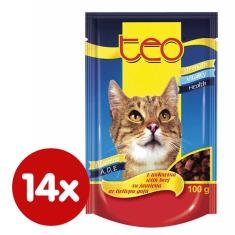Dibaq pašteta za mačke TEO, govedina, 14x100 g