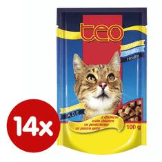 Dibaq pašteta za mačke TEO, perad, 14x100 g