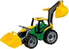LENA Óriás traktor kotróval és markolóval, Zöld/Sárga