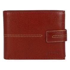Ellini Pánská koženková peněženka Ellini Smile, hnědá