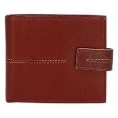 Ellini Pánská koženková peněženka Ellini Emilio, hnědá