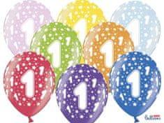 SELIS baloni 1 godina, 30 cm, 6 komada