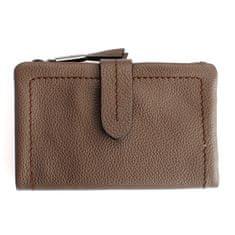 Gianni Conti Šedá dámská kožená peněženka Gianni Conti