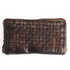 Gianni Conti Hnědá dámská kožená peněženka Gianni Conti