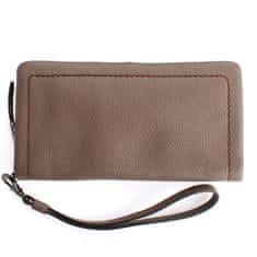 Gianni Conti Šedá kožená peněženka s poutkem Gianni Conti