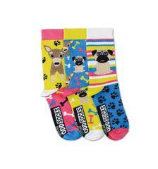 United Odd Socks Detské veselé ponožky Pugs 3ks veľ.: 31-39