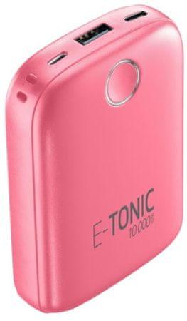 CellularLine  E-TONIC 10 000 HD prenosna baterija, roza