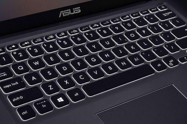 elegantný univerzálny notebook asus 14 x 415ja windows 10 home dvojčlánková batéria podsvietená klávesnica intel grafika čítačka pamäťových kariet kamera Bluetooth wifi ac pripojenie wlan hdmi matný displej ips výkonný procesor intel nízka hmotnosť notebooku
