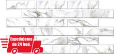 CronaPlast PVC 3D obklad - Mramor biely obkladačky 270x76