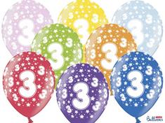 SELIS baloni 3 godine, 30 cm, 6 komada