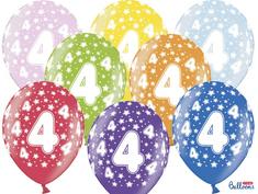 SELIS baloni 4 godine, 30 cm, 6 komada