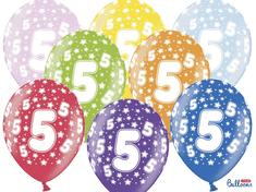 SELIS baloni 5 godina, 30 cm, 6 komada