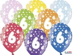 SELIS baloni 6 godina, 30 cm, 6 komada