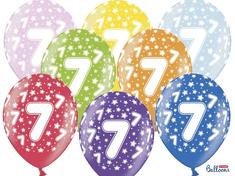 SELIS baloni 7 godina, 30 cm, 6 komada