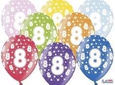 SELIS baloni 8 godina, 30 cm, 6 komada