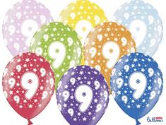 SELIS baloni 9 godina, 30 cm, 6 komada