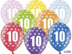 SELIS baloni 10 godina, 30 cm, 6 komada