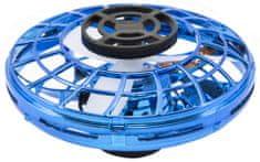 Teddies Ufo visszatérő kék műanyag, amely reagál a kéz mozgására, USB kábellel