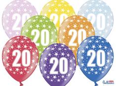 SELIS baloni 20 godina, 30 cm, 6 komada