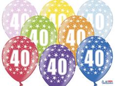 SELIS baloni 40 godina, 30 cm, 6 komada