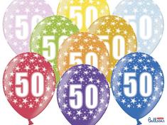 SELIS baloni 50 godina, 30 cm, 6 komada