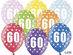 SELIS baloni 60 godina, 30 cm, 6 komada