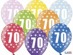 SELIS baloni 70 godina, 30 cm, 6 komada