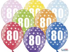 SELIS baloni 80 godina, 30 cm, 6 komada