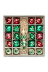 Nastrom Sada sklenených vianočných ozdôb Ľudové umenie 1