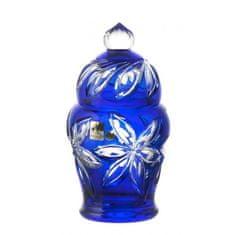 Caesar Crystal Dóza Linda, barva modrá, výška 200 mm