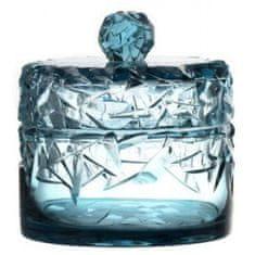Caesar Crystal Dóza s kuličkou na víku, barva azurová, výška 195 mm