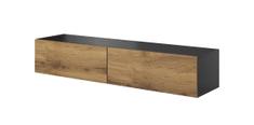Halmar Livo 160W tv stolík na stenu antracit / dub wotan