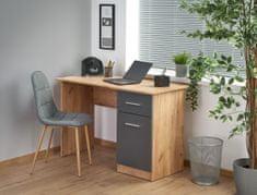 Halmar Elmo písací stôl dub craft / antracit