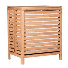 TEMPO KONDELA Menork kôš na prádlo na prádlo bambus / biela