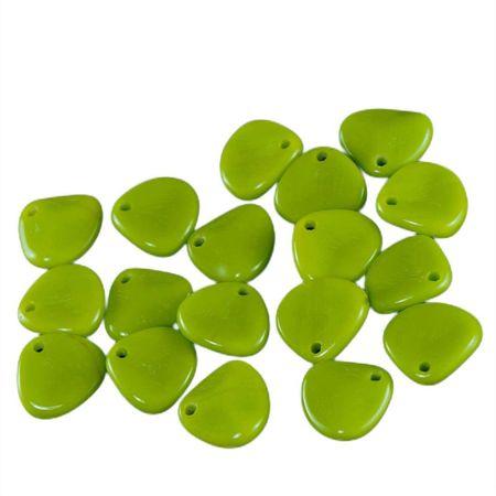 Kraftika 50db átlátszatlan olíva olivin zöld cseh rózsaszirom