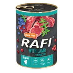 RAFI JUNIOR pástétom báránnyal, kék és vörös áfonyával 400g