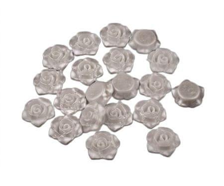 Kraftika 20szt biały perłowy plastikowe koraliki woskowane /