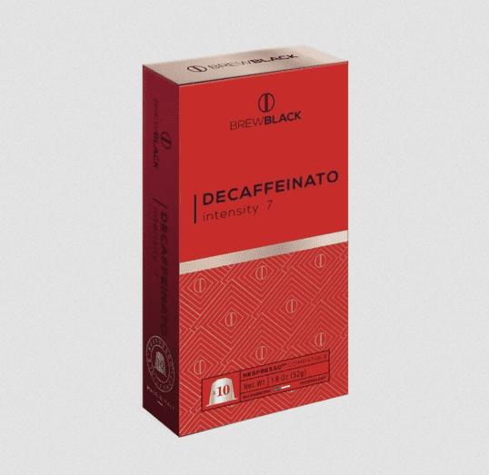 BrewBlack Káva DECAFFEINATO (10 kávové kapsule)