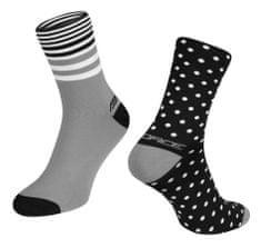 Force Cyklistické ponožky Spot - černo-šedé